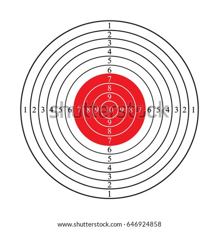 Shooting target vector icon illustration isolated on white background. Gun target logo. Flat web design elements for website, app or infographics materials.