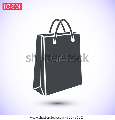 Shop bag icon