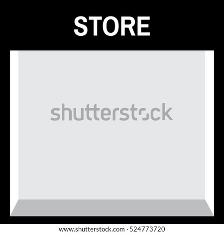 Shop front or store view vector illustration