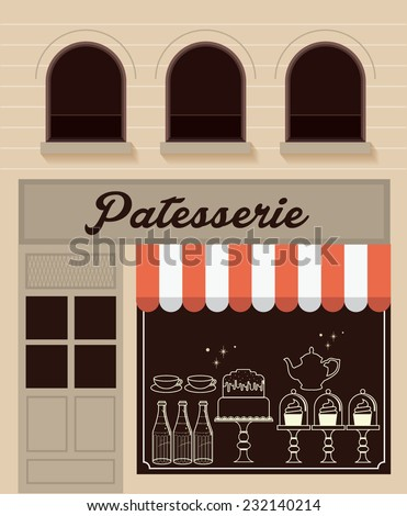 shop front vector/illustration  - stock vector