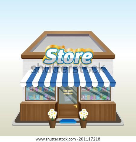 Shop icon. Eps 10 - stock vector
