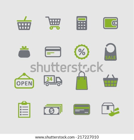 Shop icons for internet