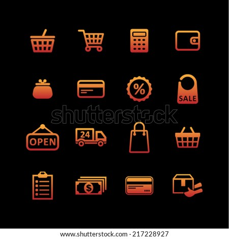 Shop icons for web