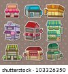 shop stickers - stock vector