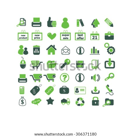 shop, store, administration, retail icons, signs, illustrations  - stock vector
