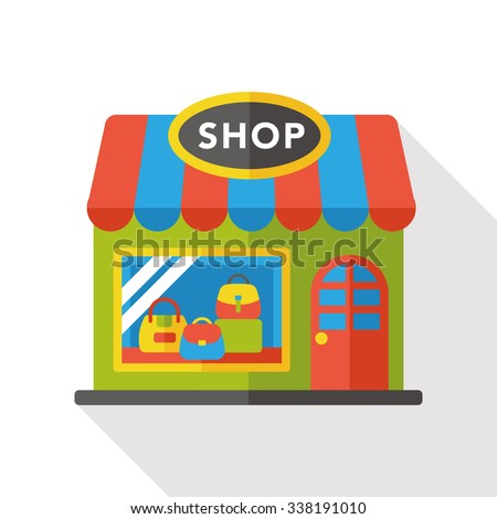 shop store flat icon - stock vector