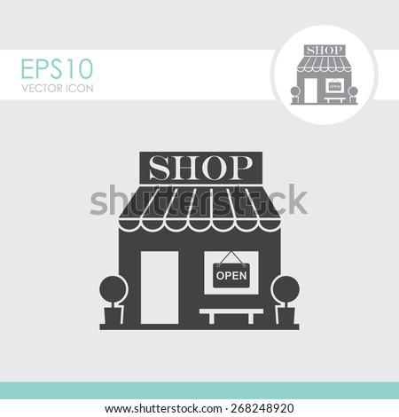 Shop vector icon. - stock vector