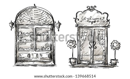 Door Sketch Stock Images Royalty Free Images Amp Vectors