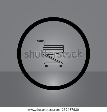Shoping basket on gray background, vector, EPS 10