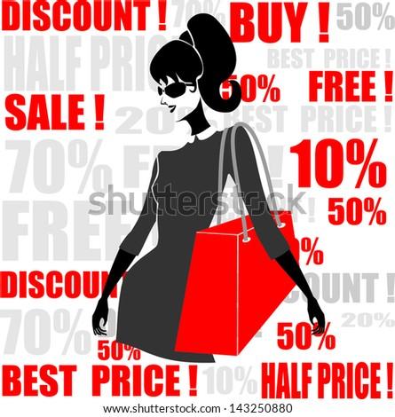 shopping - stock vector