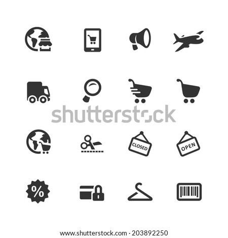 Shopping and E-commerce icons  - stock vector