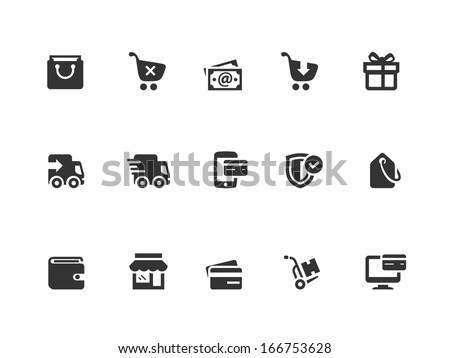 Shopping and Ecommerce icons - stock vector