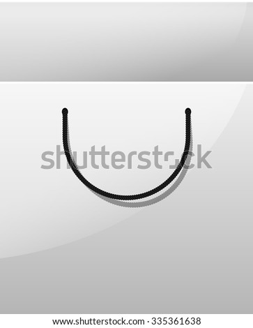 Shopping bag background. Package from the store. Realistic bag. A bag for purchases. Design a disposable bag. Template bag. Paper Bag. Bag store. Branding. White bag - stock vector