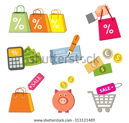 shopping bag bag mall discount sales stock vector royalty free