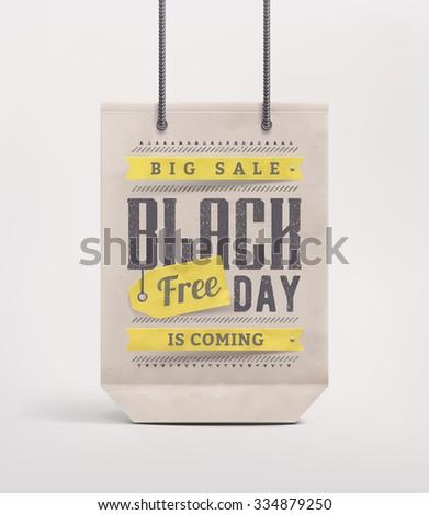 Shopping bag, black friday, eps 10 - stock vector