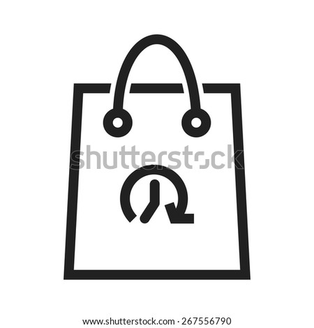 Shopping, bag, hand carry, limited time offer icon vector image. Can also be used for ecommerce, shopping, business. Suitable for web apps, mobile apps and print media.