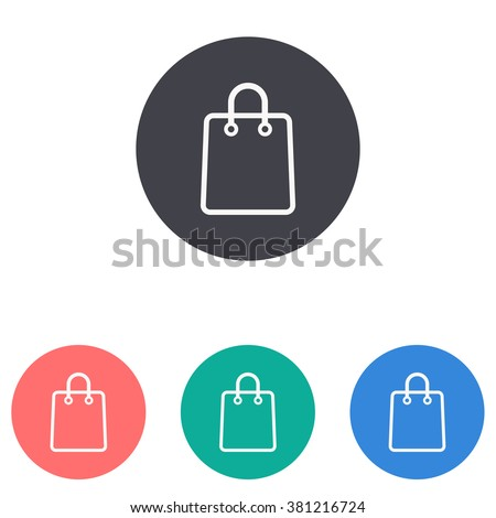 shopping bag icon - stock vector