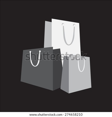 Shopping bag icon vector illustration