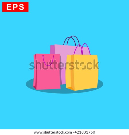 shopping bag icon, vector sale symbol, isoalated store sign