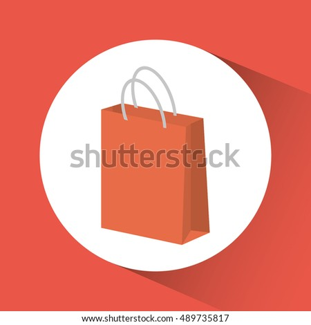 Shopping bag inside circle icon. Commerce market and store theme. Colorful design. Vector illustration
