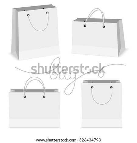 shopping bag isolated on white background, vector illustration