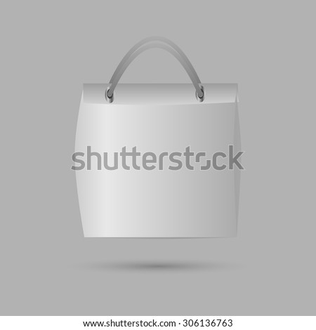 shopping bag on gray background, vector illustration