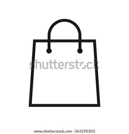 Shopping Bag Outline Icon Modern Minimal Stock Vector 363290303 ...