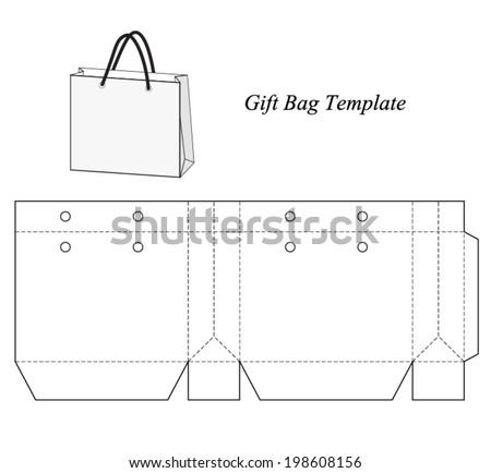shopping bag template vector illustration 198608156 shutterstock. Black Bedroom Furniture Sets. Home Design Ideas