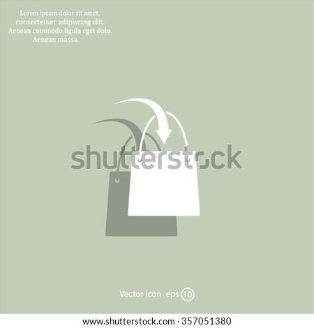 shopping bag - vector icon