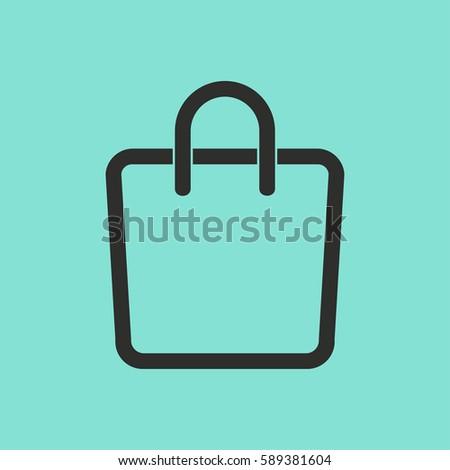 Shopping Bag Vector Icon Black Illustration Stock Vector 589381604 ...
