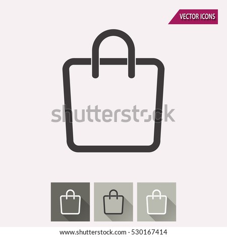 Shopping Bag Vector Icon Illustration Isolated Stock Vector ...