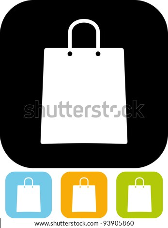 Shopping bag - Vector illustration isolated - stock vector