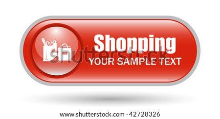 Shopping Bags Icon with Copy Space - stock vector