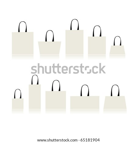 Shopping bags isolated for your design - stock vector