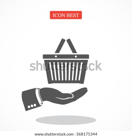 Shopping basket icon. Vector  Eps 10