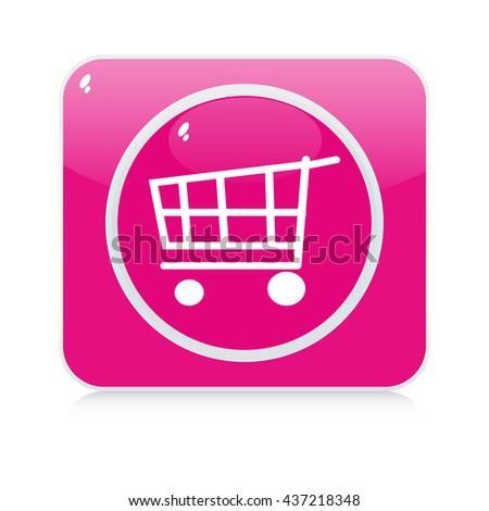 shopping button - stock vector