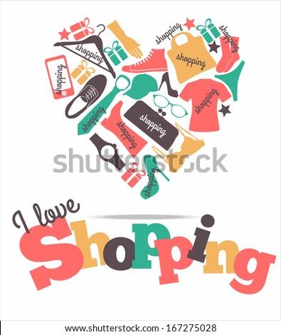 Shopping card - stock vector