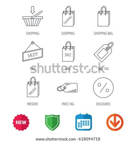 Shopping Cart Gift Bag Sale Coupon Stock Illustration 557696881 ...