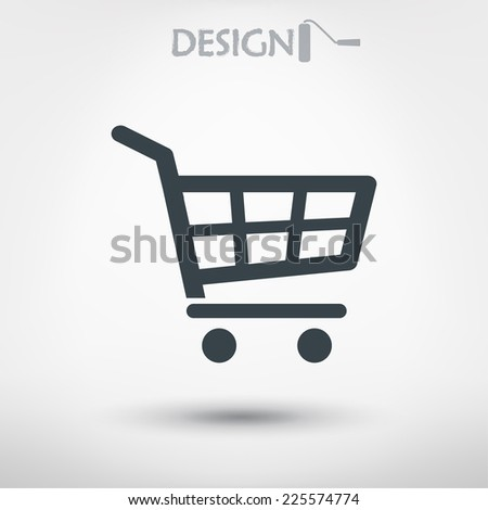 shopping cart icon - stock vector