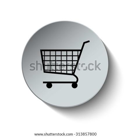 Shopping cart icon. Cart icon. Online shopping icon. Button. Vector illustration. EPS10 - stock vector