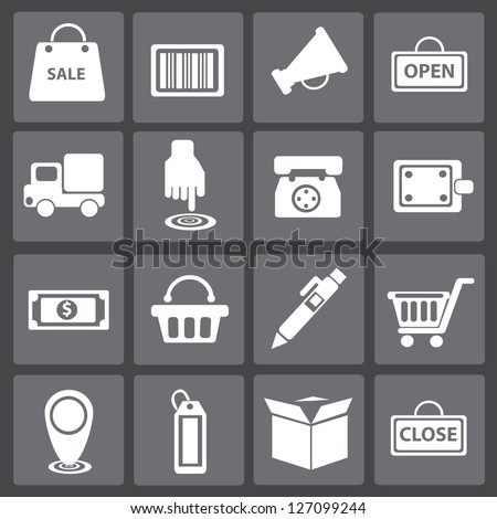Shopping cart,icon set,vector