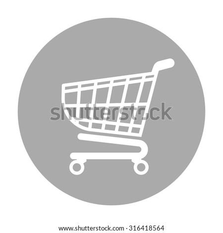 Shopping cart icon, shopping basket design, trolley icon. - stock vector