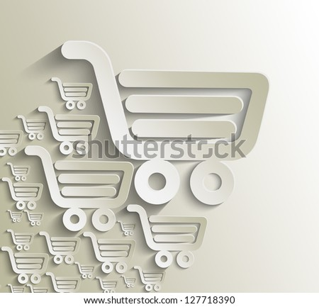 shopping cart icon, shopping basket design- vector illustration - stock vector