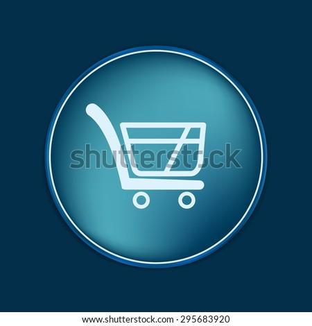 shopping cart icon. vextor illustration. cart online store, Internet shop. basket shopping - stock vector