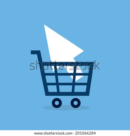 Shopping cart online carrying pointer  - stock vector