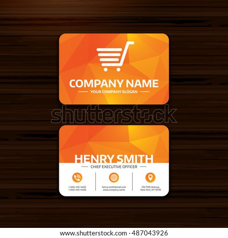 Shopping cart sign icon online buying stock vector 487043926 online buying button business card template with flat icon colourmoves