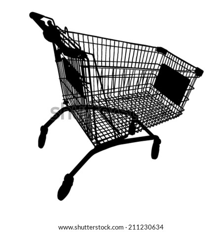 Shopping Cart Silhouettes - stock vector
