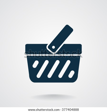 shopping cart web icon. vector design - stock vector