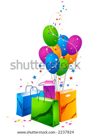Shopping celebration - stock vector