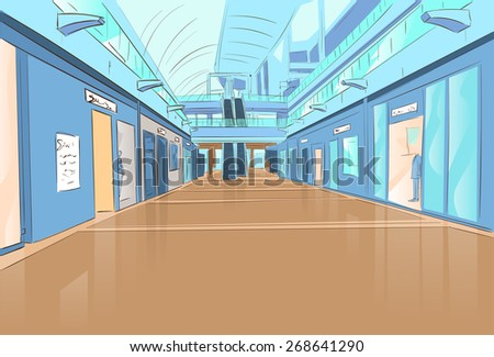 shopping center modern luxury mall shop vector illustration - stock vector